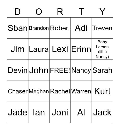 DOT FEST Bingo Card