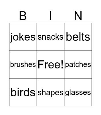 Ending Bingo Card