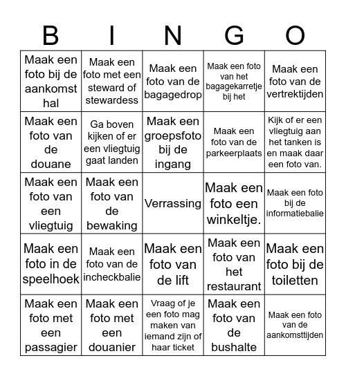 Opdrachtkaart Eindhoven Airport Bingo Card
