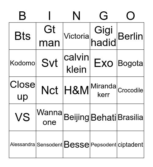 Gempi's Bingo Card