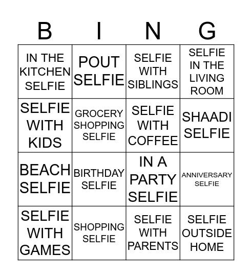 SELFIE BINGO Card