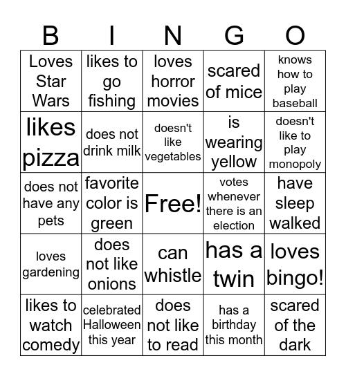 Bingo 3 Bingo Card