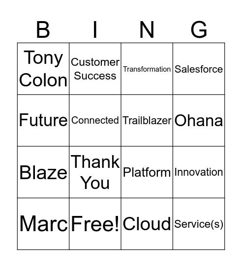 Success Cloud Bingo Card