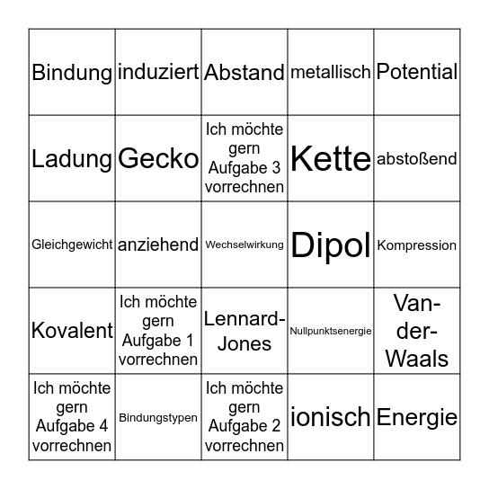 Seminar 5 Bingo Card