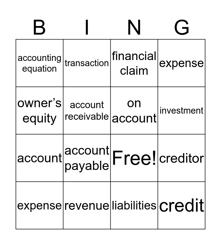 Property and financial claims Bingo Card