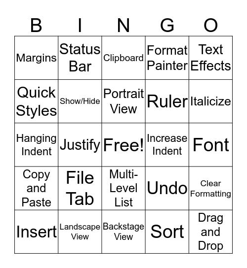 And Bingo was the Wordo Bingo Card