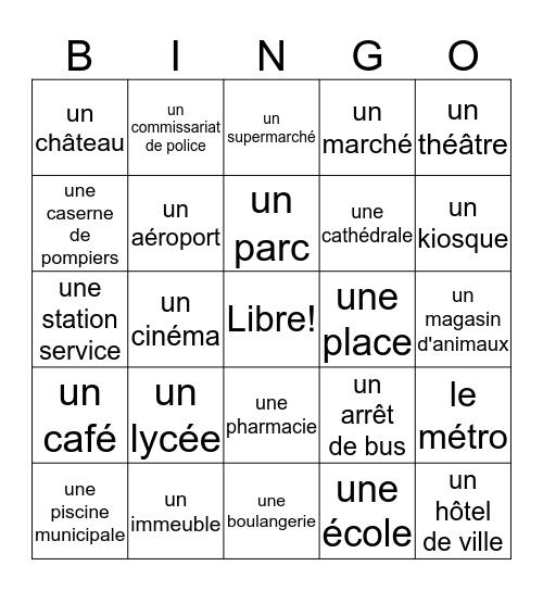 Les Bâtiments français Bingo Card