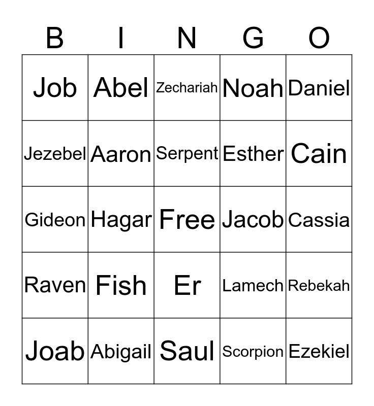 Church Bingo Card
