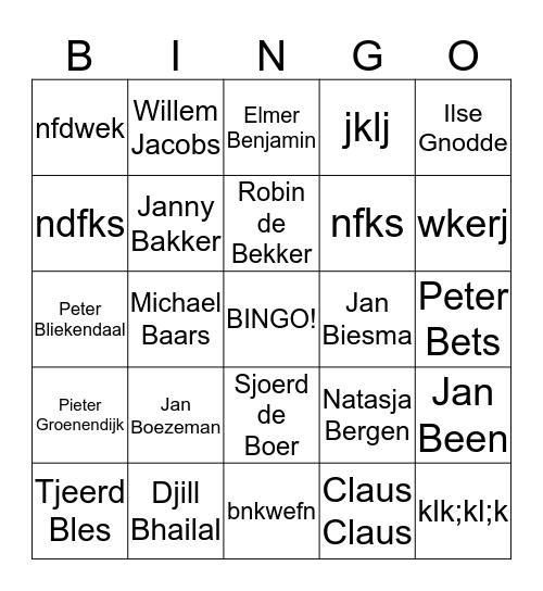 De Zuiderzeeland medewerkers bingo! Bingo Card