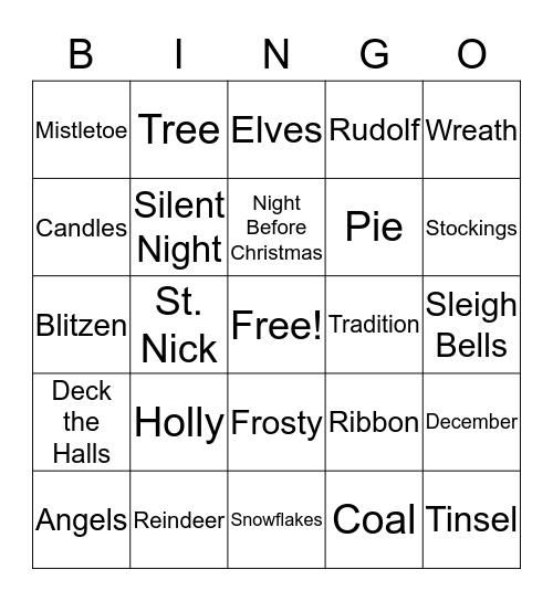 Christmas Bingo Card