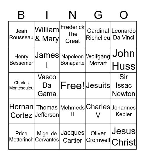 History of The World Part II Bingo Card