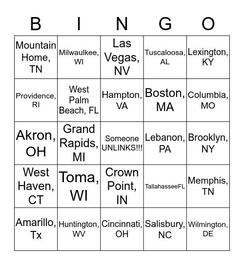 VA SELECTION BINGO! Bingo Card