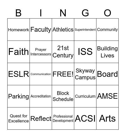 Buzz Word Bingo 2012-13 Bingo Card