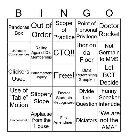 MMS Interim 2017 Bingo Card