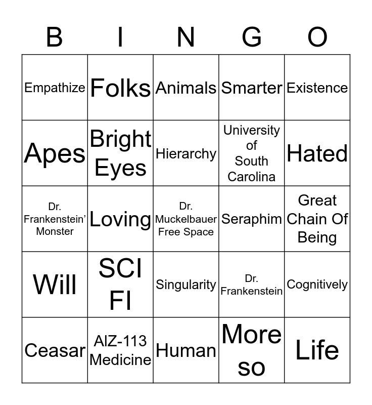 What is a Human? Bingo Card