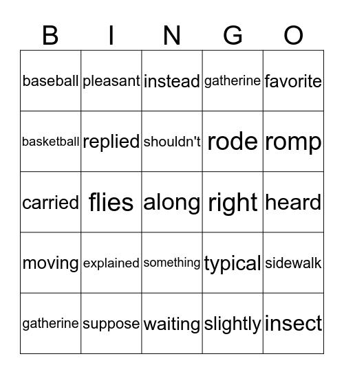 3-3 Bingo Card