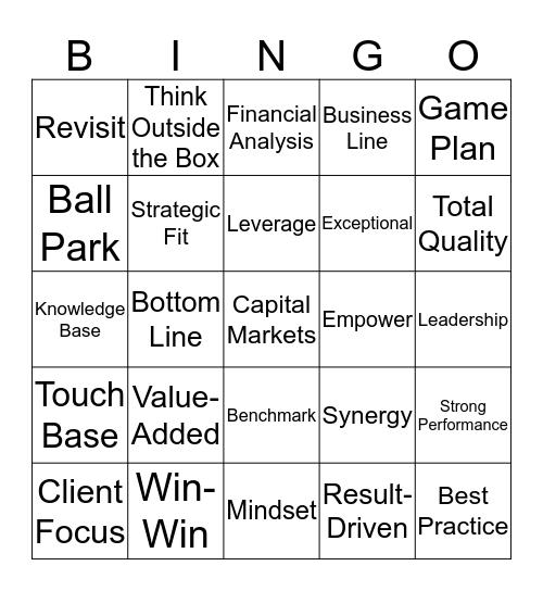 Bullshit Bingo Card