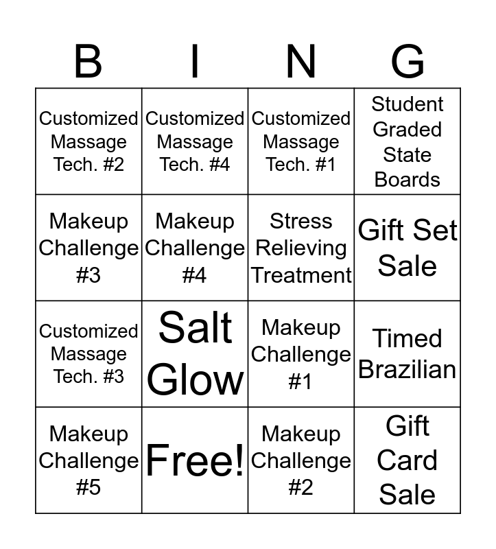Graduation Challenge! Bingo Card