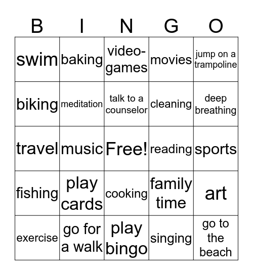 Coping Skills Bingo w Keema & Ash  Bingo Card