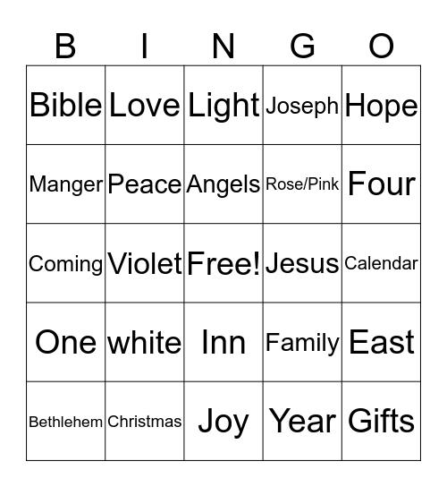 Advent Bingo Card