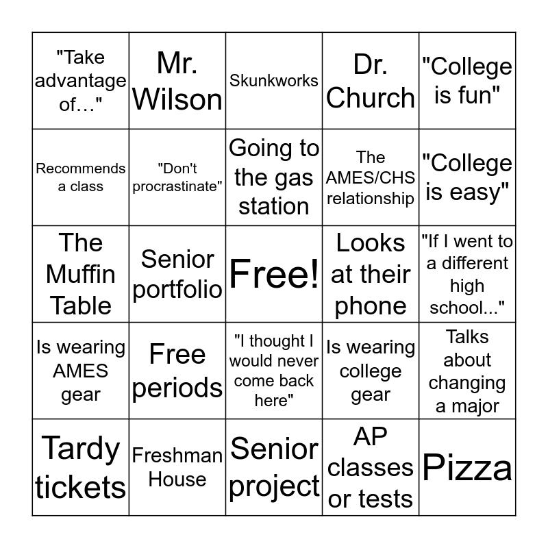 AMES Alumni BINGO! Bingo Card