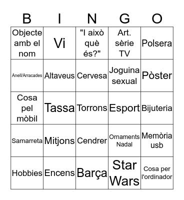 ABS Secret Santa Bingo! Bingo Card