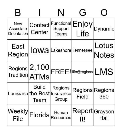 Round 3 Bingo Card