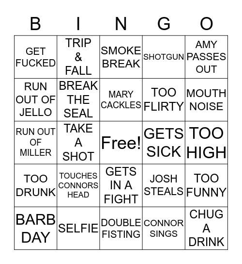 BUS BINGO Card