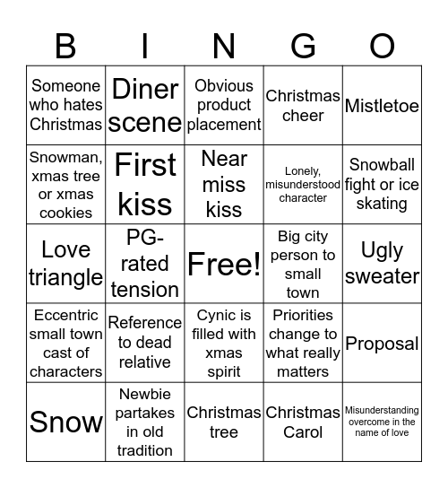 Best Worst Christmas  Bingo Card