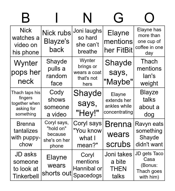 Christmas Bingo- Papoose Bingo Card