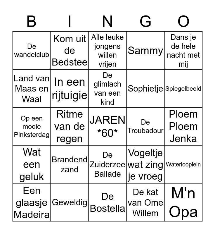 MUZIKALE Bingo Card