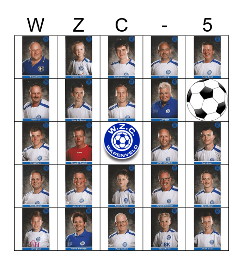 WZC - 5 Bingo Card
