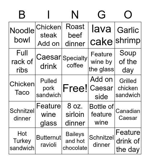 Horsepower bingo contest Jan 4th-Feb 4th Bingo Card