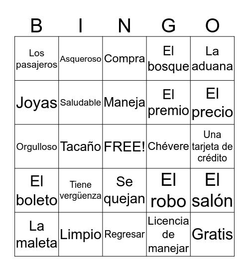 Los Baker van a Perù: Capítulo 1-5 Bingo Card