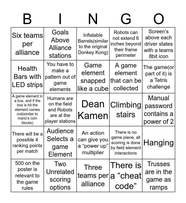 Kick off Bingo! Bingo Card