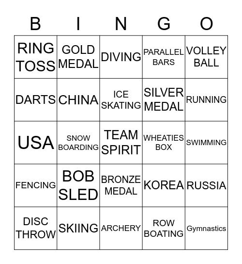 OLYMPIC JINGO Bingo Card