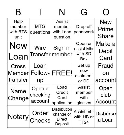 MSR Bingo Card