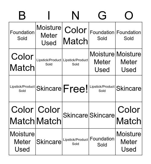 SEPHORA Bingo Card