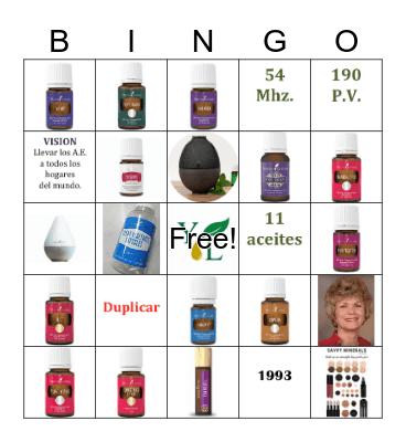 Young Living Bingo Card