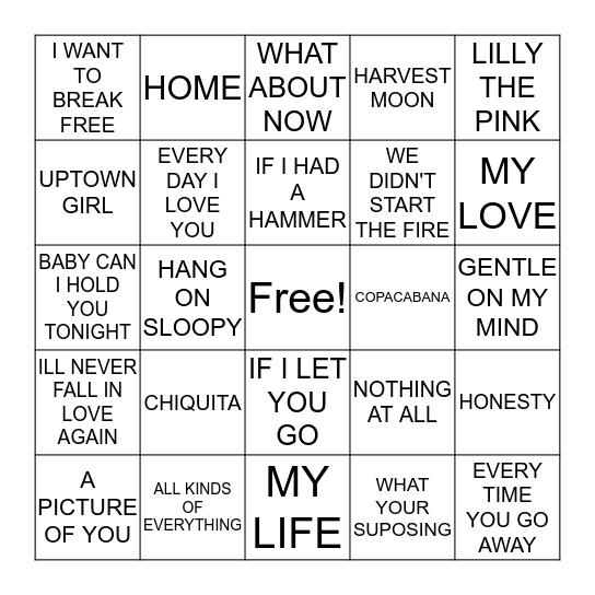 ROY KEANE Bingo Card
