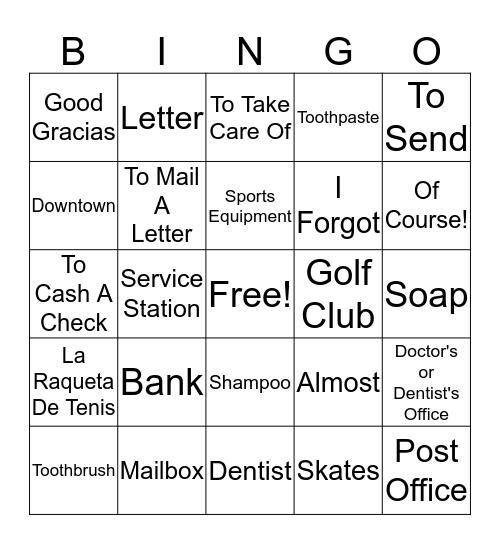 De Memoria 3A Bingo Card
