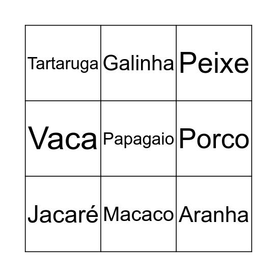 ANIMAIS Bingo Card