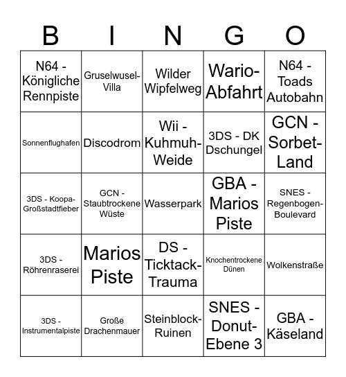 MK8 BINGO 24 Hours Bingo Card