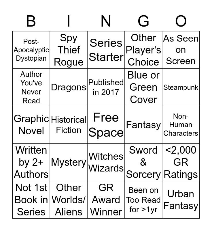 Bookshelf Bingo Card