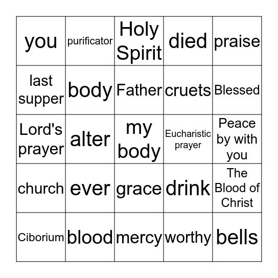 HOLY EUCHARIST Bingo Card