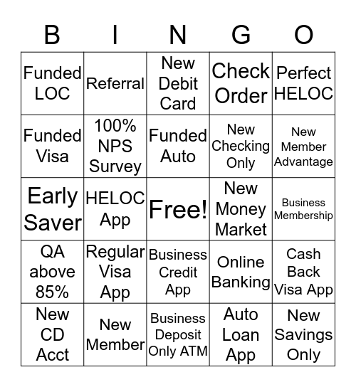 DASHBOARD Bingo Card