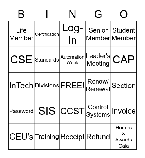 ISA Customer Service Week Bingo Card