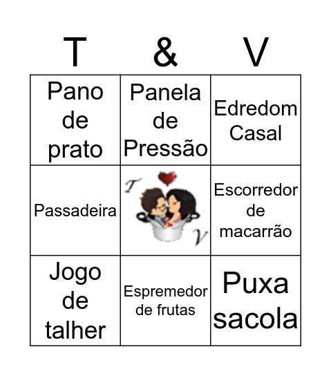 Chá dos Noivos Bingo Card