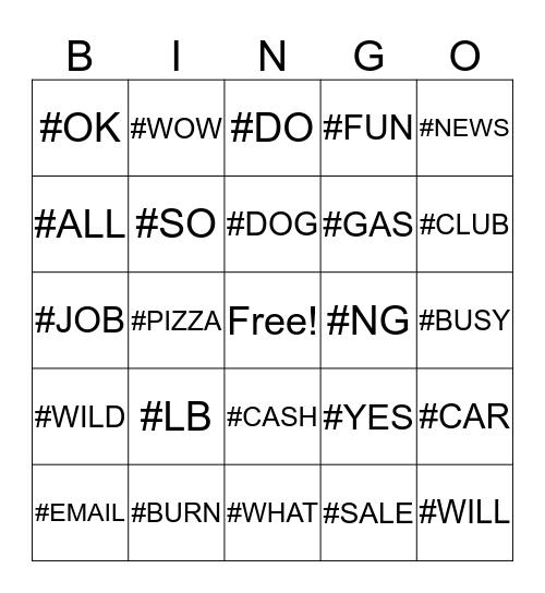# Fingerspelling Bingo Card