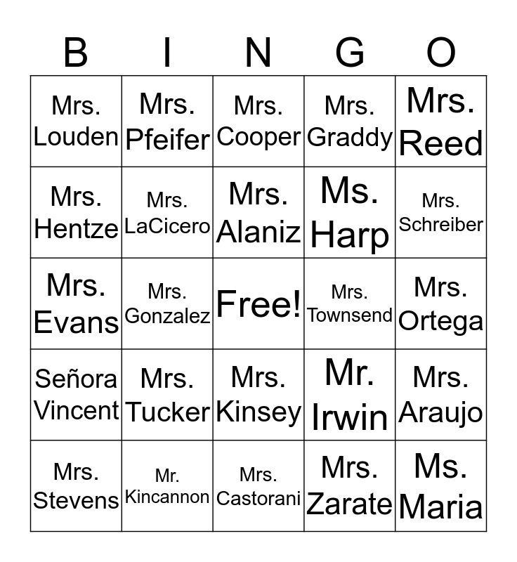 Saint Andrew Catholic School 2 Bingo Card